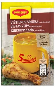 Vištienos sriuba MAGGI su makaronais, 12 g