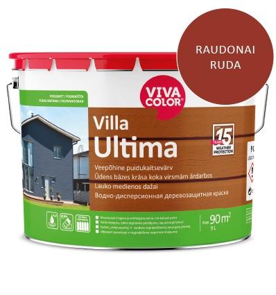 Dažai lauko medienai Villa Ultima, raudonai rudi, 9L