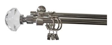 Dvigubo karnizo komplektas Futura F516186, 240 cm, Ø 19 mm