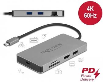Адаптер Delock 87774, USB Type C / HDMI / Micro SD / SD Card Reader / SDHC Card Reader / RJ-45 / SDXC card reader / USB 3.2 Type-A