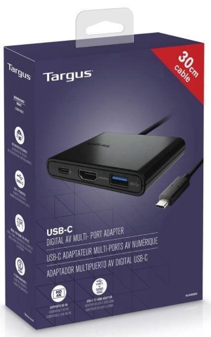 Targus Adapter USB-C to HDMI / USB-C / USB-A Black