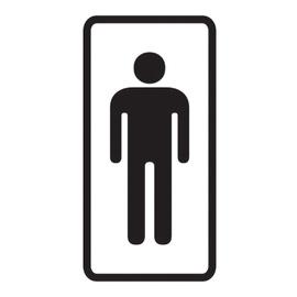 Ohutusmärk WC meestele kleebis 7,5x15cm