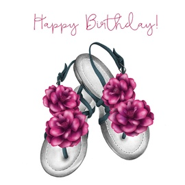 Clear Creations Sandals Birthday Card CL0317