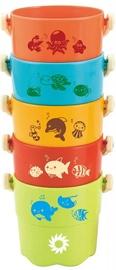 Ведро для песочницы ASKATO Colorful Buckets, многоцветный, 5 шт.