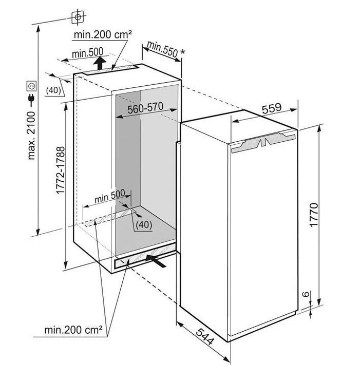 Įmontuojamas šaldytuvas Liebherr IK 3520 Comfort White