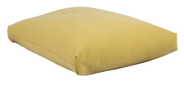 Home4you Jute Floor Cushion 60x80x16cm Yellow