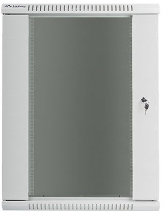 Lanberg Wall-Mounted Rack 19'' 15U 570x600mm Grey