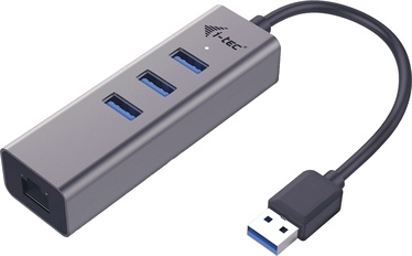 I-Tec USB 3.0 Metal 3 port HUB With Gigabit Ethernet