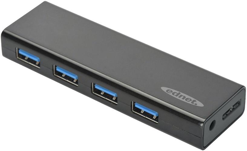 USB-разветвитель (USB-hub) Ednet 85155 USB 3.0 4 Port Hub Black