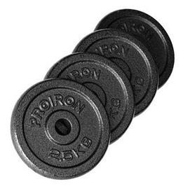 ProIron Solid Cast Iron Weight Plates Set Black 4x2.25kg