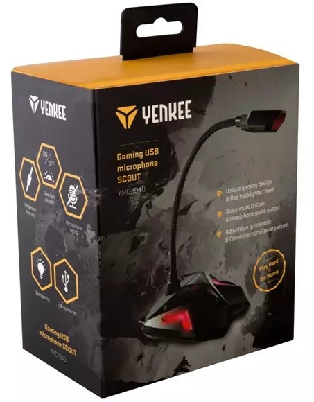 Микрофон Yenkee YENKEE YMC 1040 SCOUT, черный