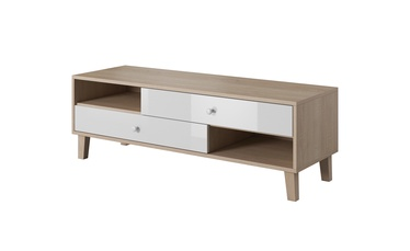 TV-laud Idzczak Meble Sonata 07 Sonoma Oak/White, 1500x490x550 mm