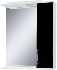 Vannas istabas skapītis Sanservis Laura-60 with Mirror Black 60x86.5x17cm