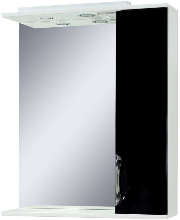 Sanservis Laura-60 Cabinet with Mirror Black 60x86.5x17cm