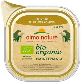 Влажный корм для собак (консервы) Almo Nature Bio Organic Maintenance Turkey 100g