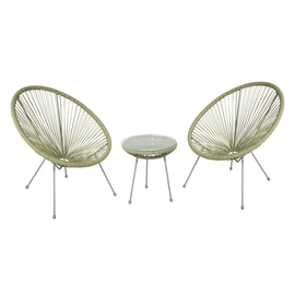 Home4you Como Balcony Furniture Set Green