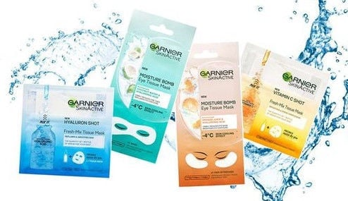 Garnier Skin Naturals Moisture Smoothness Eye Tissue Mask 1pcs