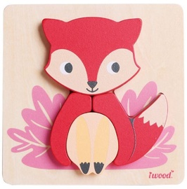 Puzle Iwood Wooden Animal Fox, 4 gab.