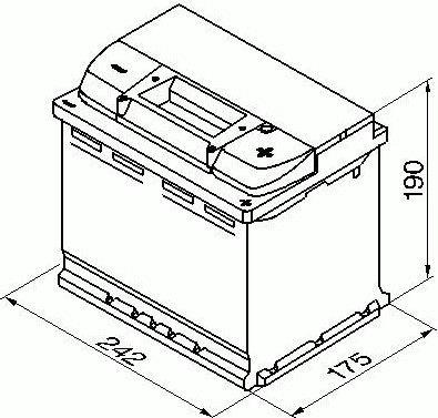 Аккумулятор Bosch Modern Standart S4 006, 12 В, 60 Ач, 540 а