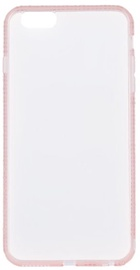 Beeyo Diamond Frame Back Case For Apple iPhone 6 Plus/6s Plus Transparent/Pink