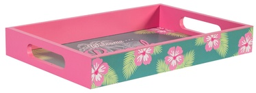 Home4you Wooden Tray Beach Bar S Pink