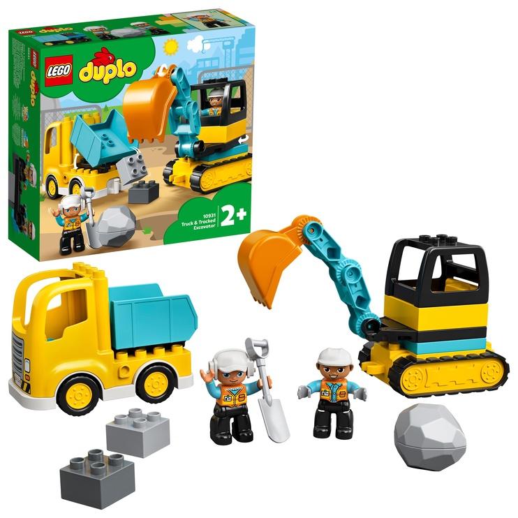 Konstruktor LEGO® Duplo Town Veok ja roomikekskavaator 10931