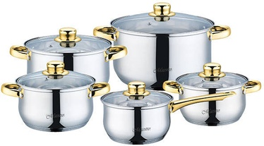 Maestro Casserole Set Gold 5pcs