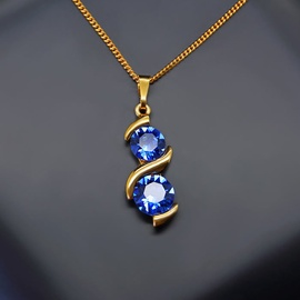 Diamond Sky Pendant Milky Way Sapphire With Swarovski Crystals