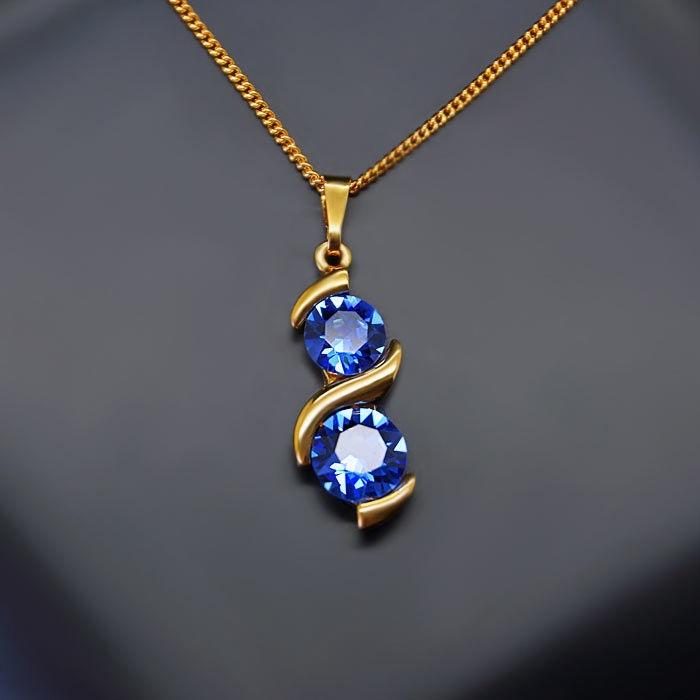 Diamond Sky Pendant Milky Way Sapphire With Swarovski Crystals