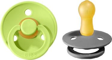Bibs Colour Round Pacifier 2pcs Smoke/Lime 6-18m