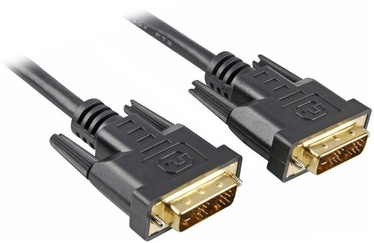 Sharkoon DVI-D To DVI-D 18+1pin Adapter 5m Black