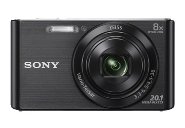 Fotoaparatas Sony DSC-W830B, juodas