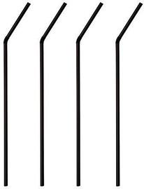 Papstar Straws H24cm 1000Pcs Black
