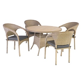 Home4you June Garden Furniture Set Brown/Grey