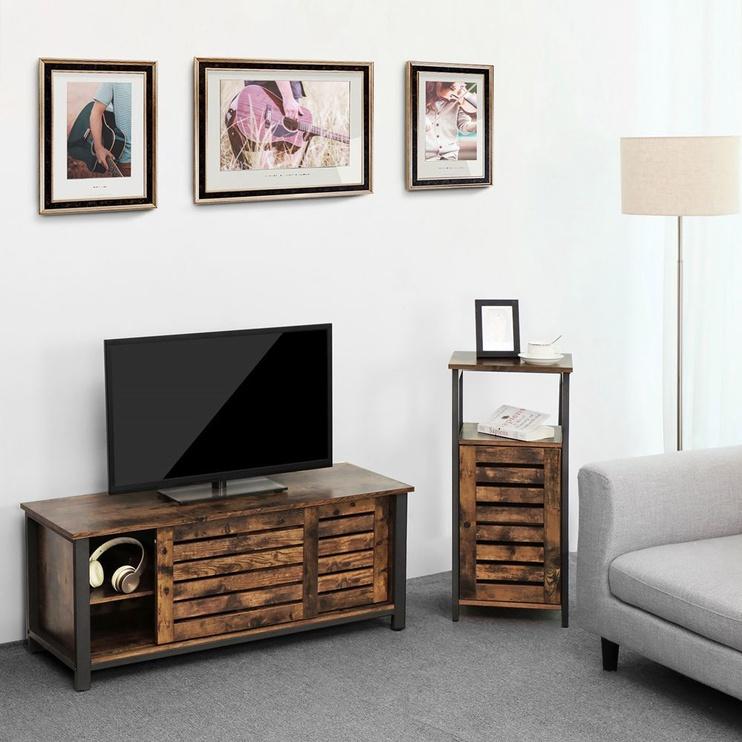 TV galds Songmics Industrial, brūna, 1100x400x450 mm