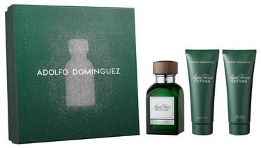 Набор для мужчин Adolfo Dominguez Agua Fresca Vetiver 120 ml EDT + 75 ml Aftershave Balm + 75 ml Shower Gel