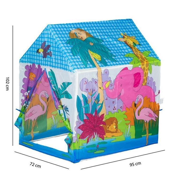 Žaidimų palapinė EcoToys Zoo Playground Tent House