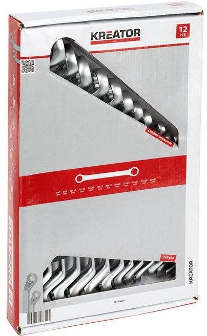 Kreator KRT500006 Ring Spanner Set 12pcs
