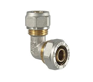 Užveržiamoji alkūnė TDM Brass 26 mm x 3 mm