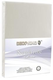 Palags DecoKing Nephrite, balta, 90x200 cm, ar gumiju