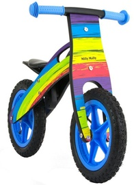 Milly Mally KING Wooden Balance Bike Rainbow 2282