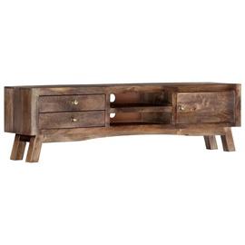 TV galds VLX Solid Mango Wood, brūna, 1400 mm x 300 mm x 400 mm