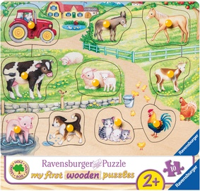 Ravensburger My First Wooden Puzzle Farm 10pcs 036899