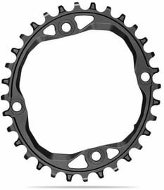 AbsoluteBlack Oval 104BCD For SH 12spd Chain 36T Black