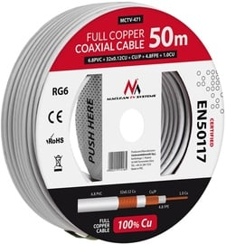 Maclean Coaxial Cable MCTV-472 White 100m