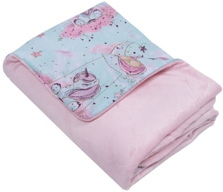 Mamandu Minky Blanket Unicorns On The Moon 75x100cm