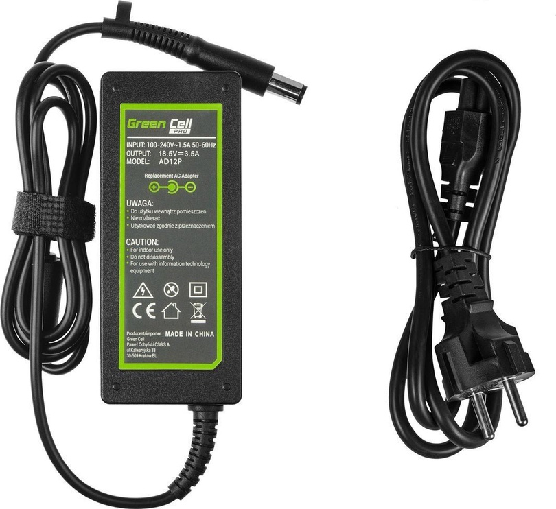 Адаптер Green Cell Pro AD12P 18.5V 3.5A 65W for HP