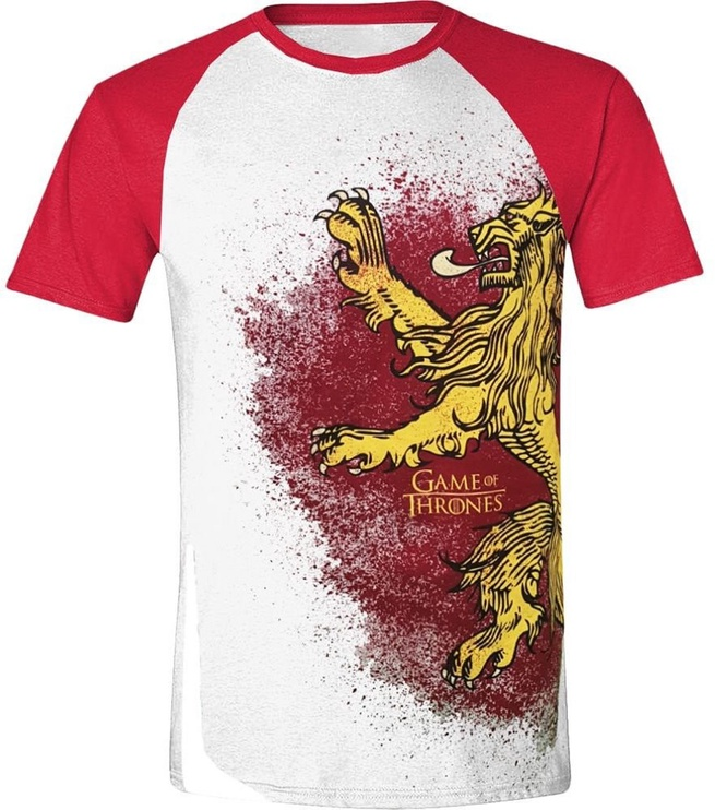 Футболка Licenced Game Of Throne Painted Lannister Raglan T-Shirt White/Red XL