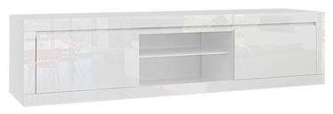 TV galds Tuckano Sparkle White, 1800x400x900 mm