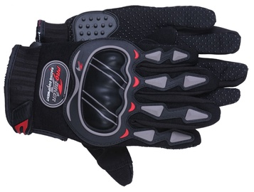 Pro-Biker MCS-03 Motorcycle Gloves Black/Grey XL